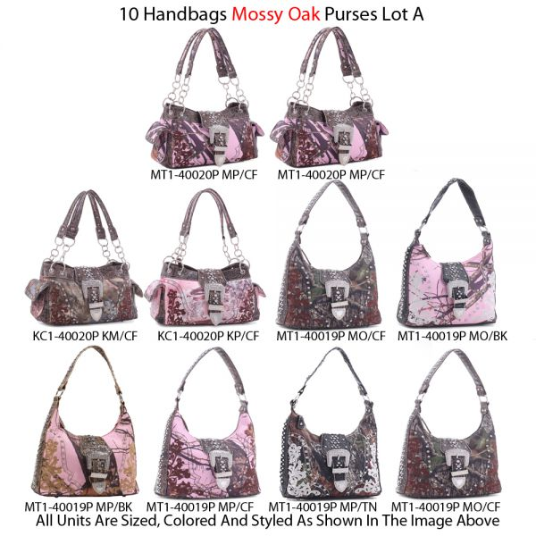 10 Handbags 'Mossy Oak & Real Tree' Collection Lot A