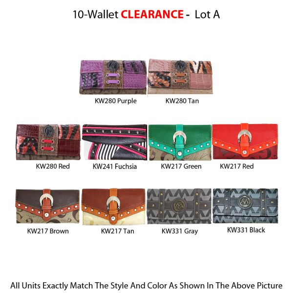 10 Wallets Clearance - Lot A