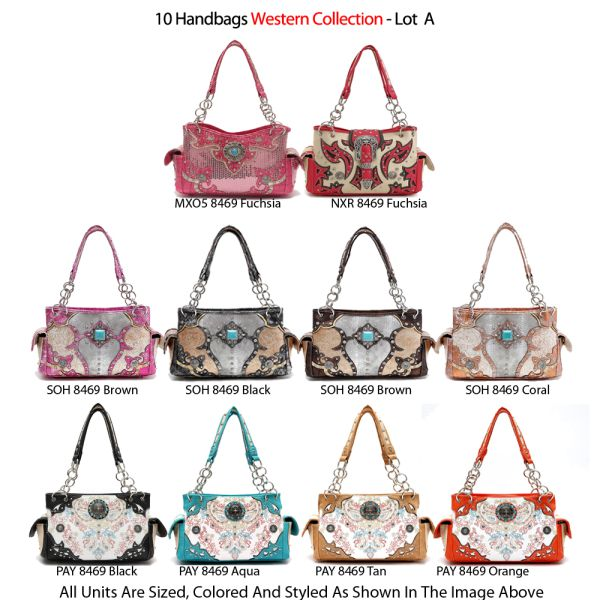 10 Handbags Western Collection - Lot A