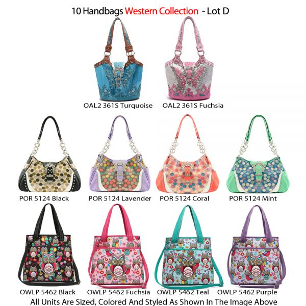 10 Handbags Western Collection - Lot D