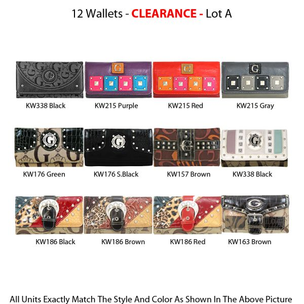 12 Wallets - Clearance Lot A