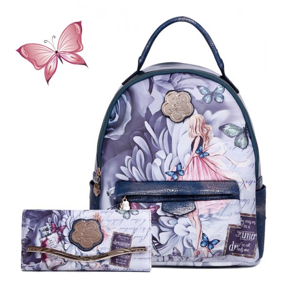 Green Arosa Dreamers Backpack and Wallet - BFB8939-BFW8682