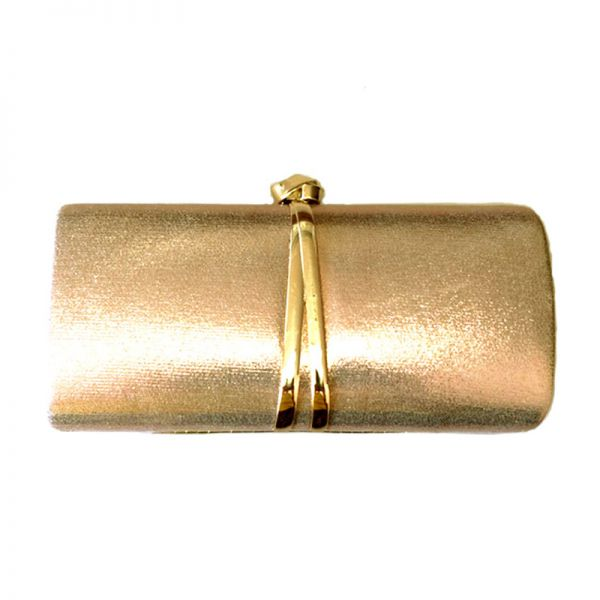 GOLD DESIGNER FASHION PARTY CLUTCH WITH CHAIN