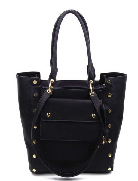 BLACK 2 IN 1 FASHION BAG WITH SMALL CROSSBODY INSIDE