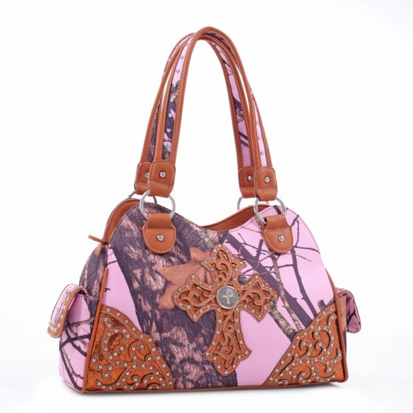 Brown 'Mossy Pine' Structured Satchel Bag - MT1-40022P MP