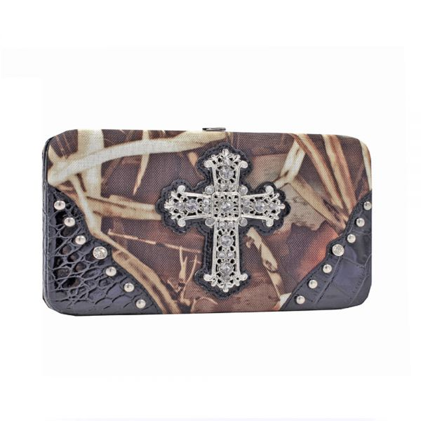 Black 'Real Tree' Hard Case Wallet - RT1-AW251A MAX4/BK